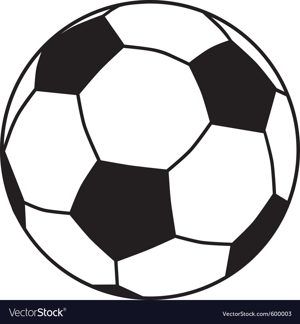 soccer ball royalty free vector image vectorstock rh vectorstock com soccer ball vector illustrator soccer ball vector art