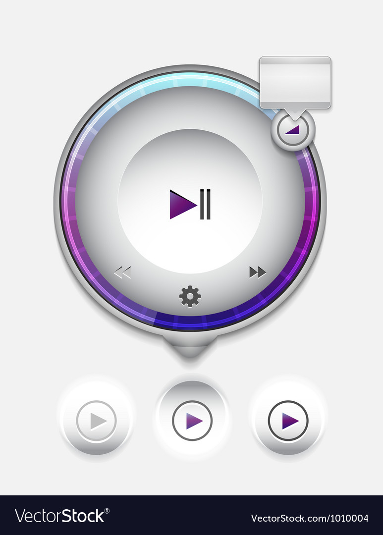 Multimedia player UI Vector Image
