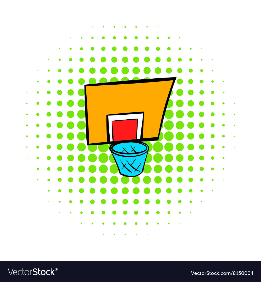 Basketball goal icon comics style vector image