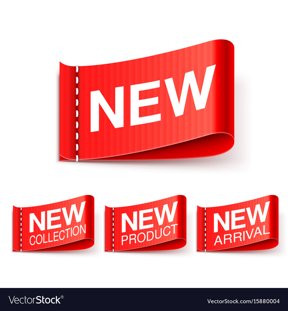 New labels collection vector image