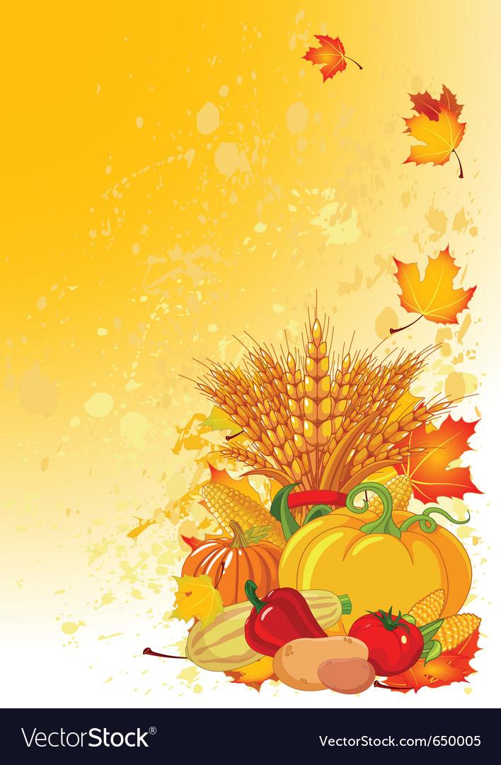 Harvesting design vector image