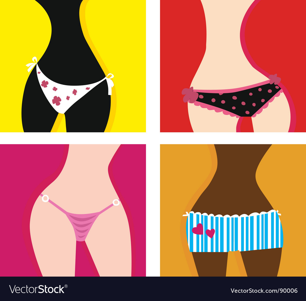 Woman in panties vector image