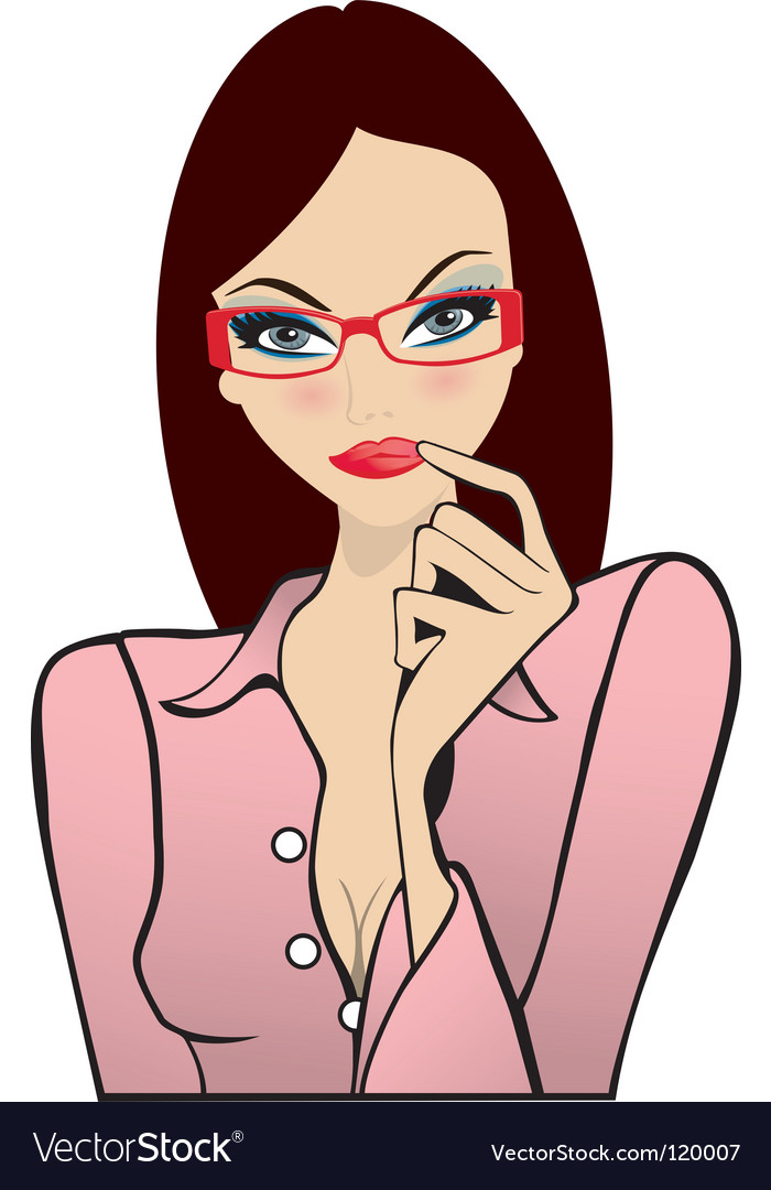 Sexy office girl vector image