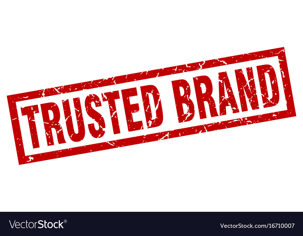 Square grunge red trusted brand stamp vector image