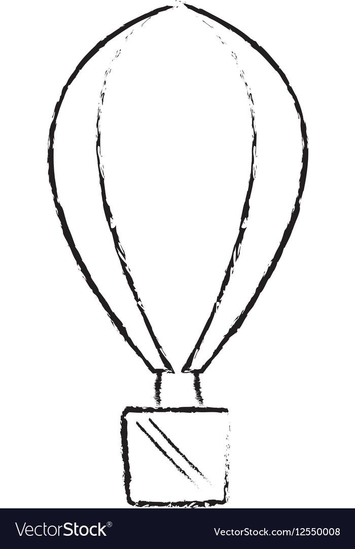 Airballoon recreation vacation travel sketch vector image
