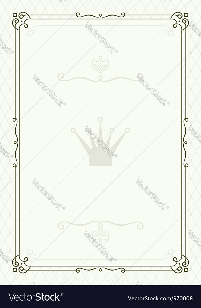 Form for diploma or certificate royalty free vector image form for diploma or certificate vector image yelopaper Choice Image