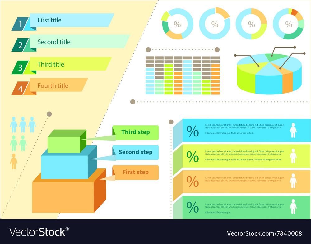 Infographic Set Flat Design Business vector image