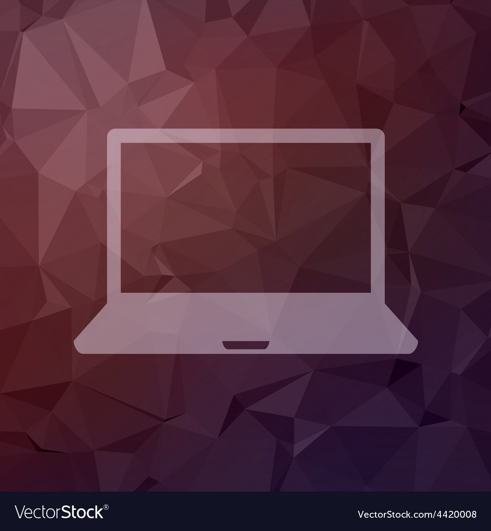 Laptop in flat style icon vector image