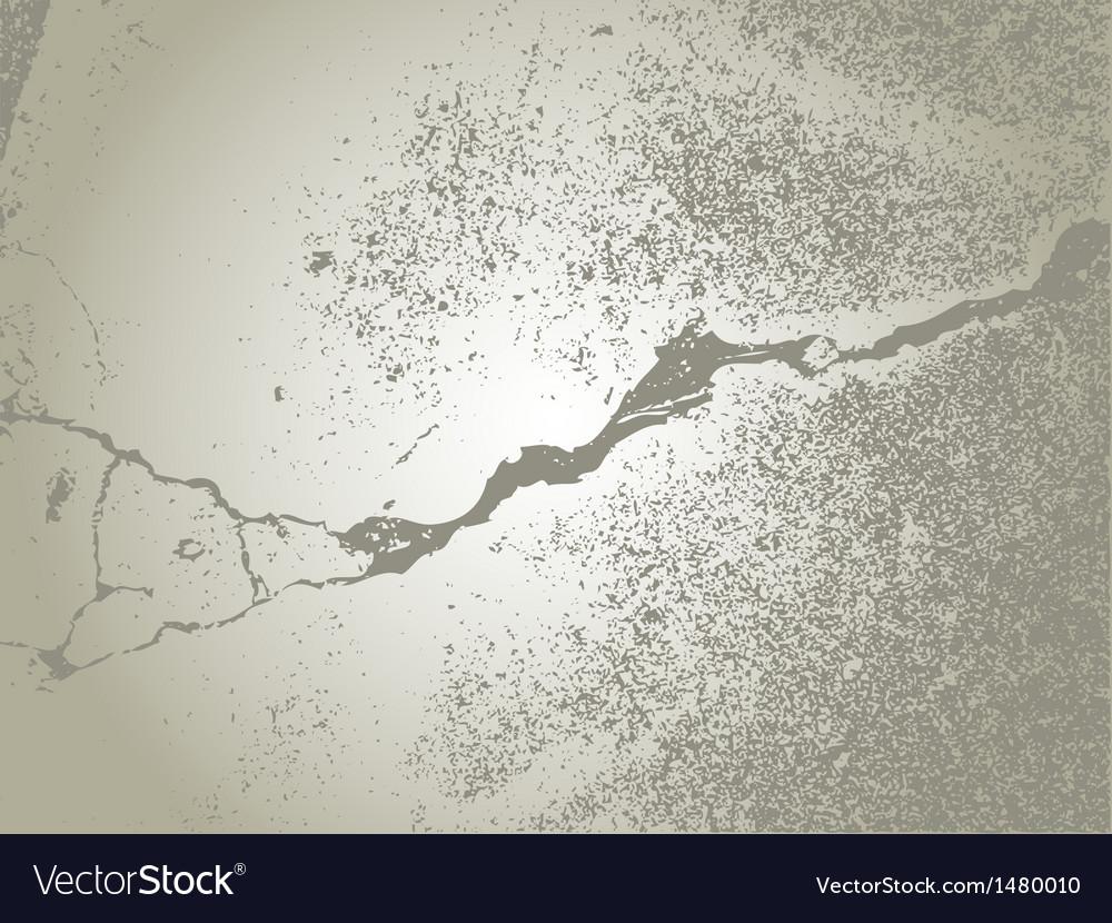 Damaged concrete vector image
