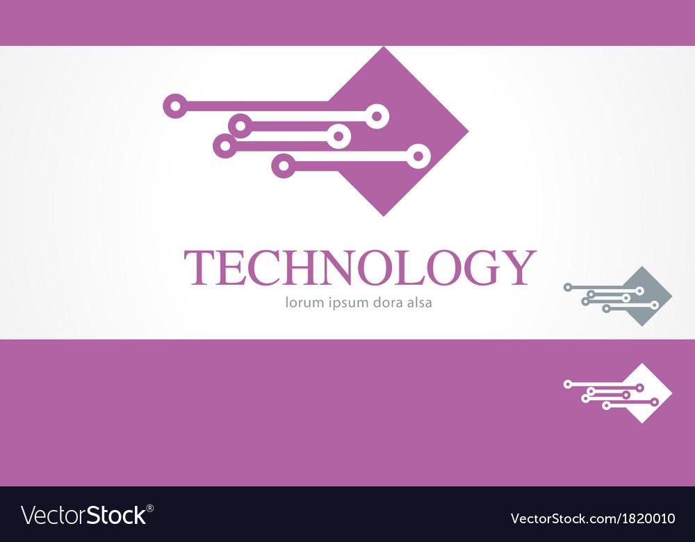 It information technology logo concept template vector image it information technology logo concept template vector image pronofoot35fo Images