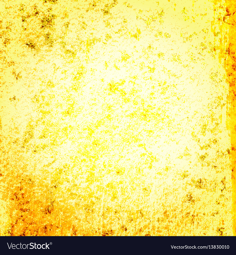 Yellow gold grunge backgroun vector image
