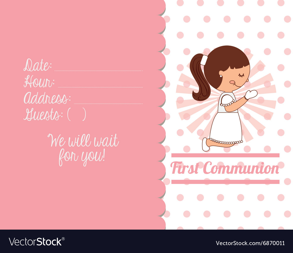 First communion card design royalty free vector image first communion card design vector image kristyandbryce Choice Image