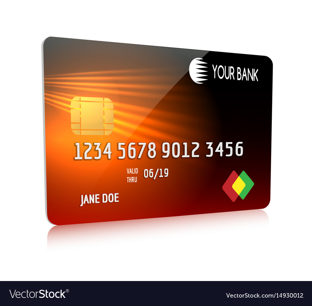 Debit or credit card isolated icon vector image