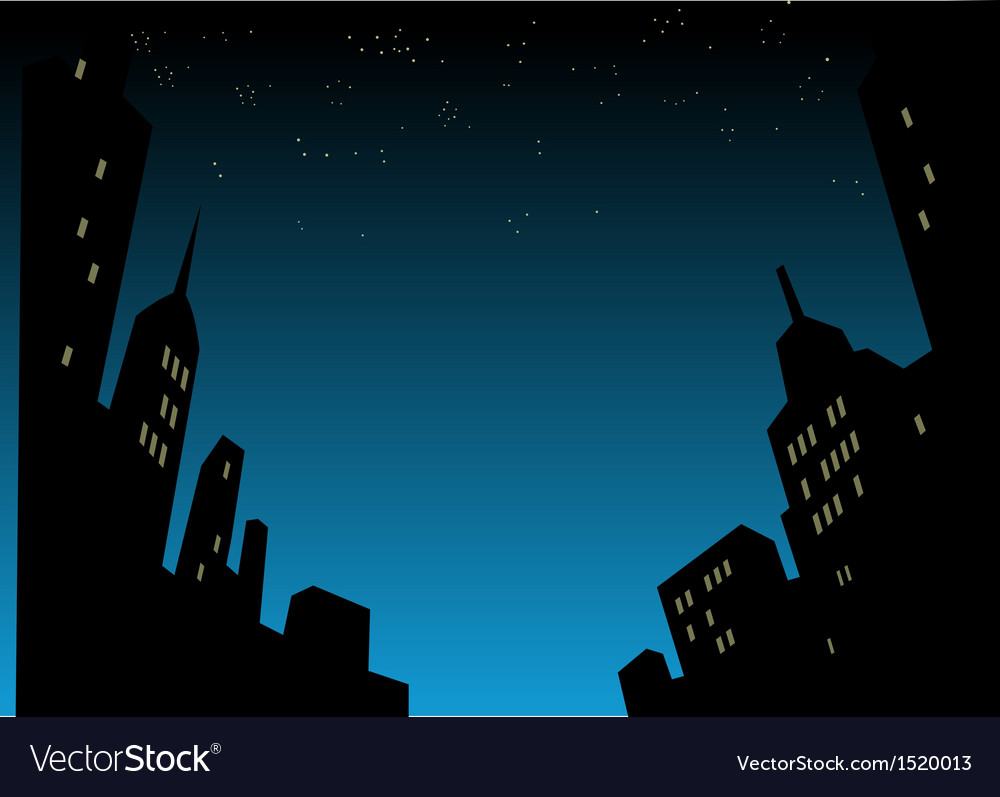 Night City Skyline Background vector image