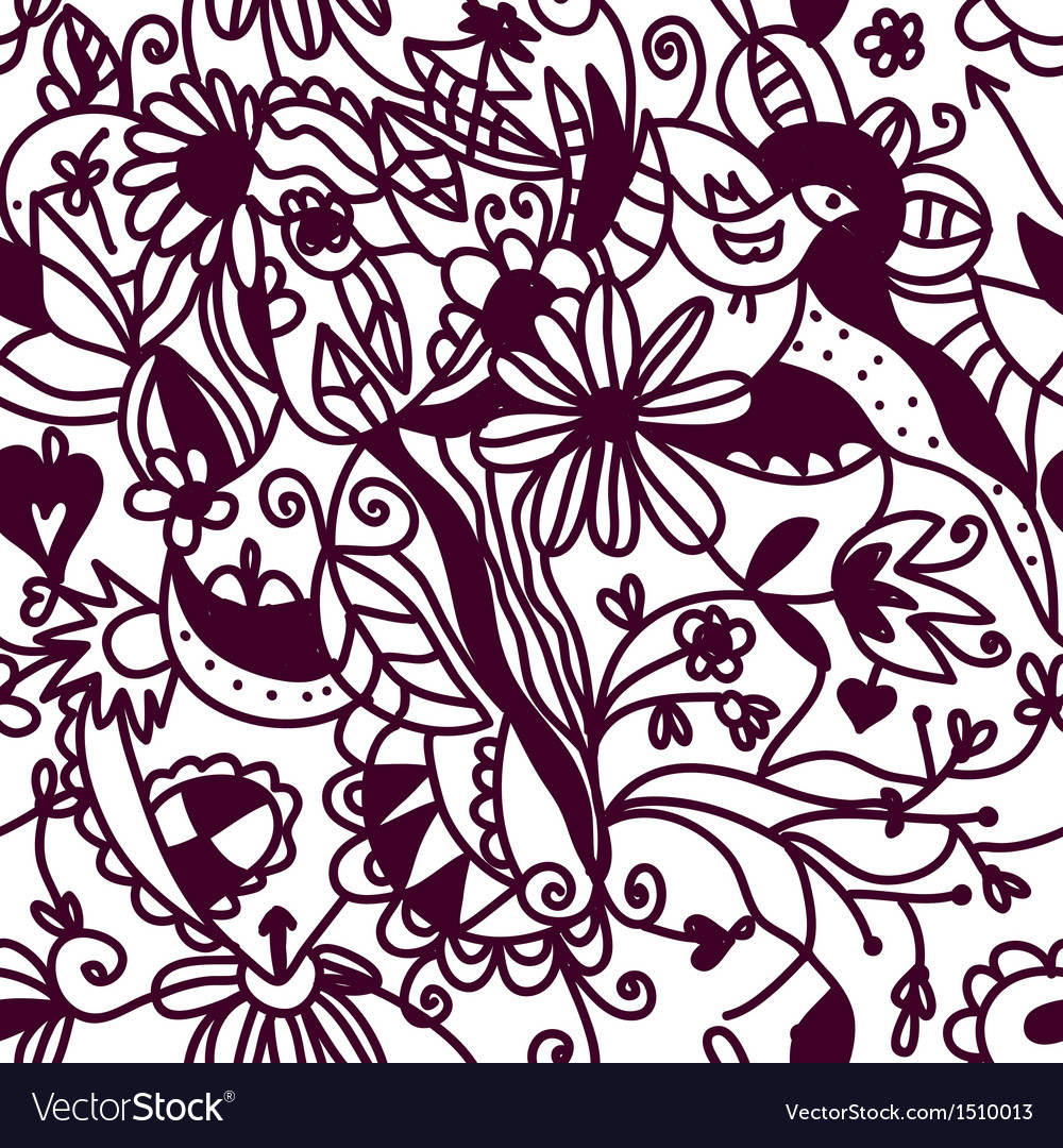 Floral seamless pattern vintage vector image
