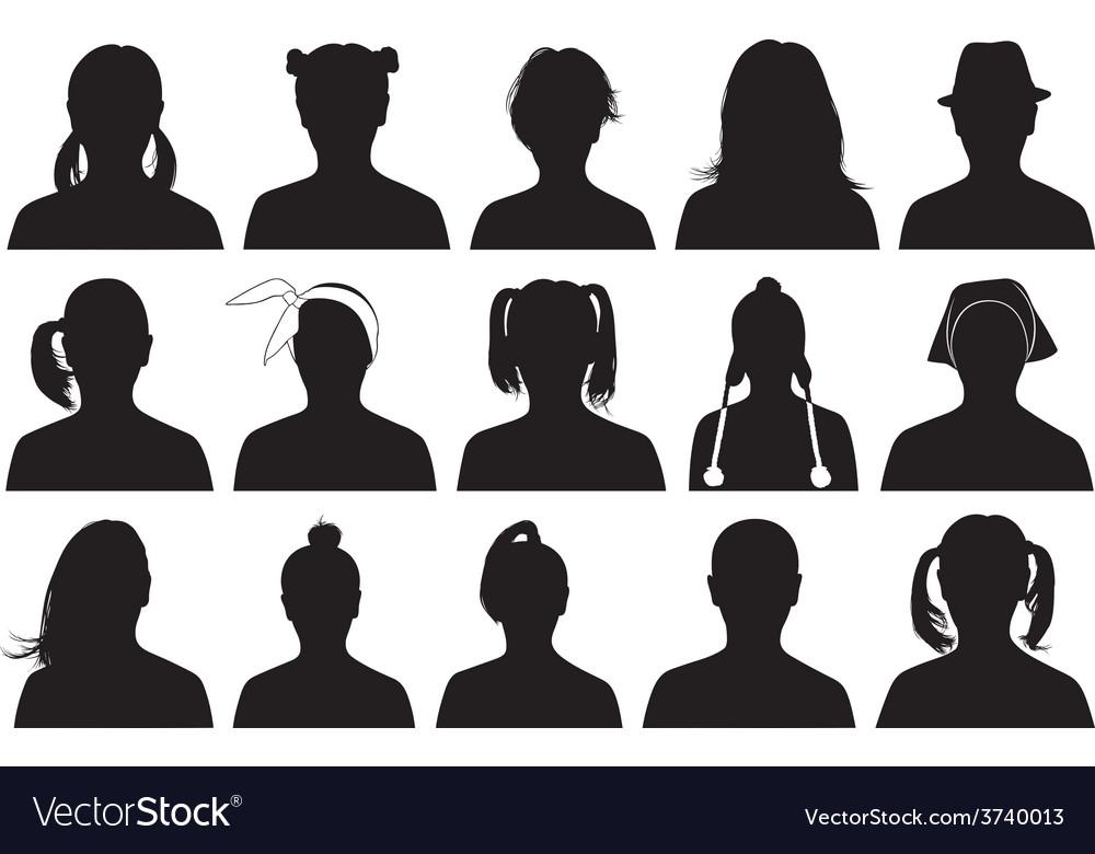 Women portraits vector image