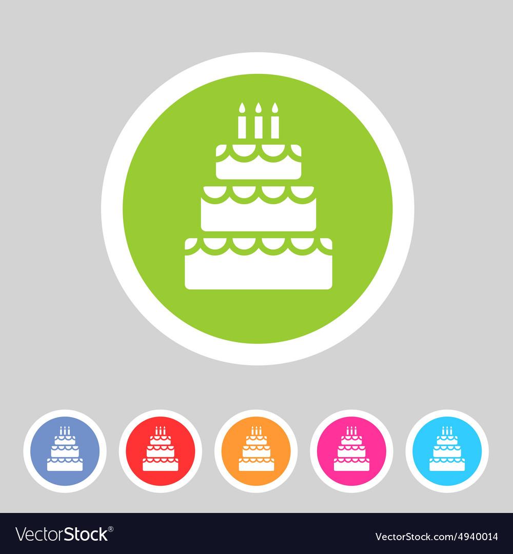 Birthday cake flat icon sign symbol logo label set birthday cake flat icon sign symbol logo label set vector image biocorpaavc