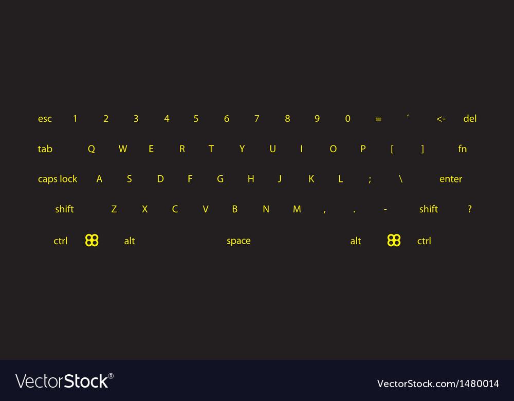 Dark keyboard vector image