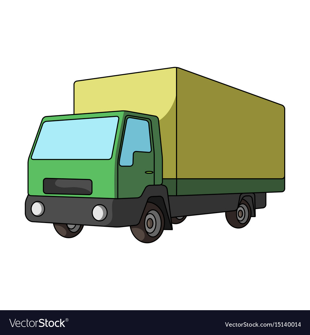 Truck with awningcar single icon in cartoon style vector image