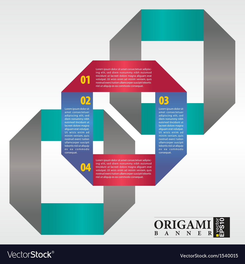 Abstract origami banner EPS 10 vector image