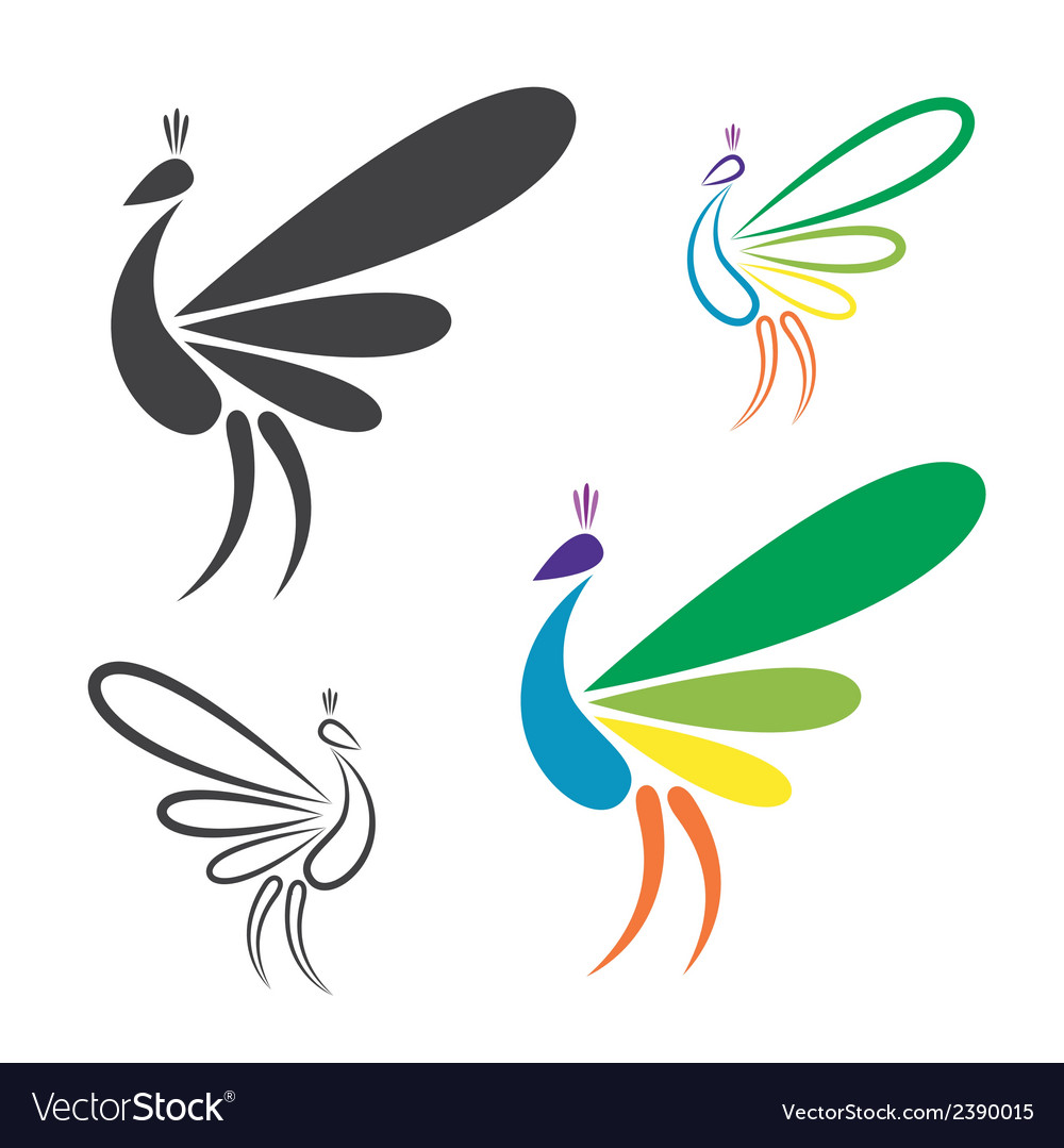 Image of peacock design vector image