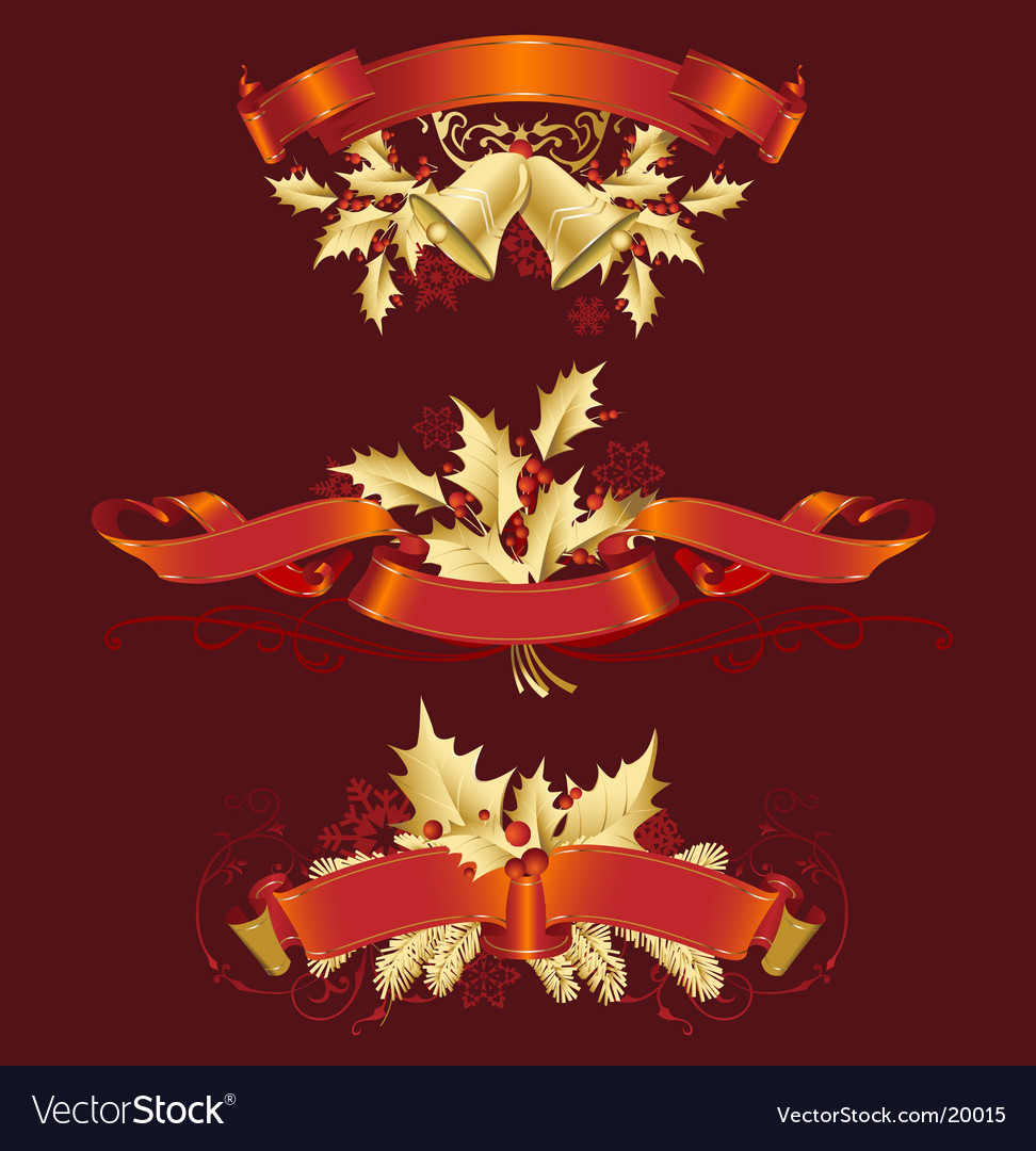 Set of christmas decoration variation vector image