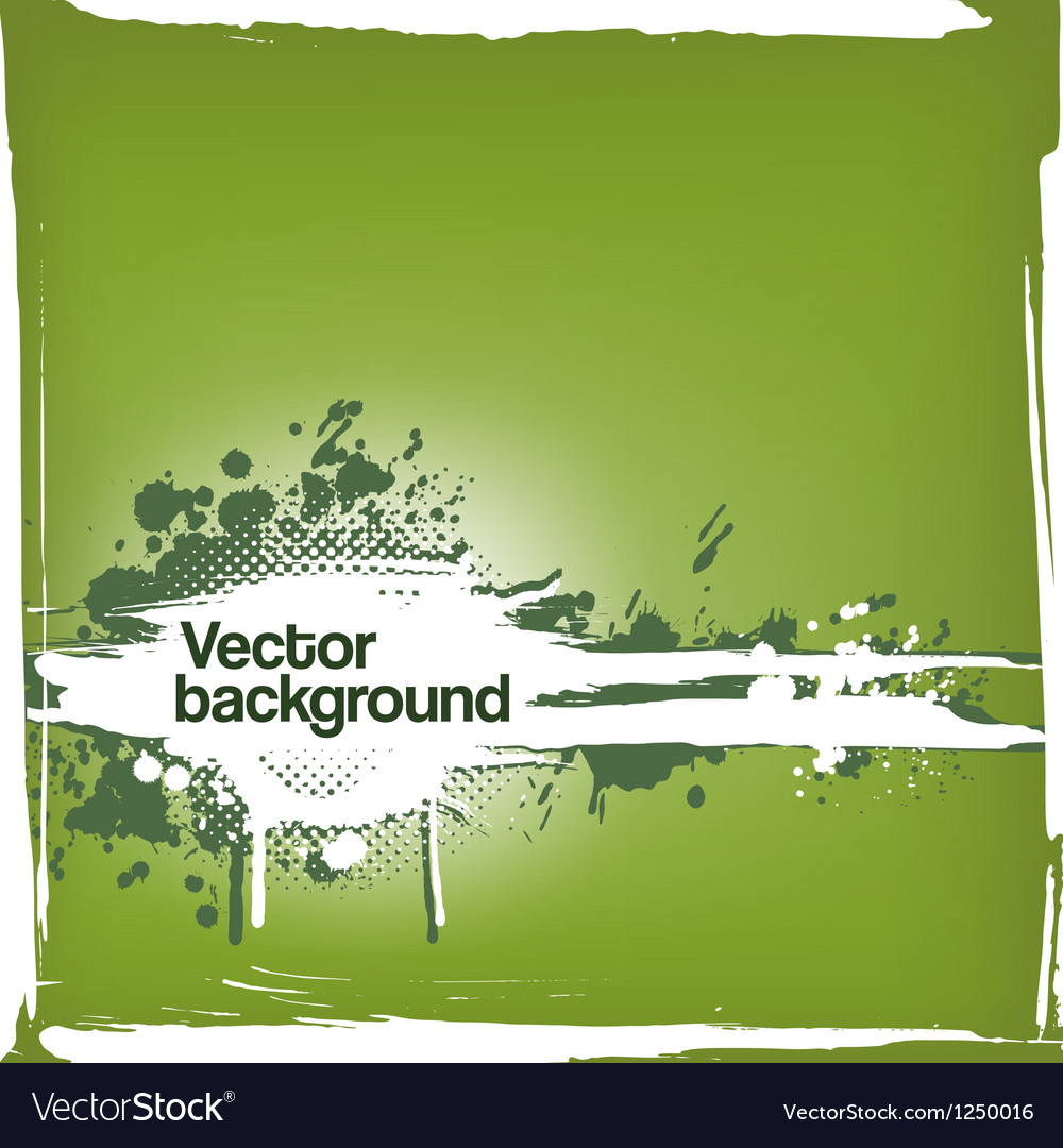 Grungy ink blot background vector image