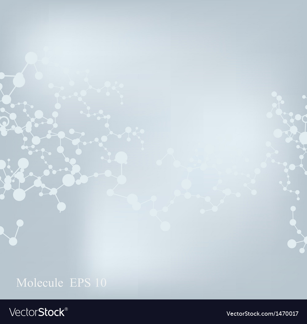 Abstract molecular structure background Vector Image