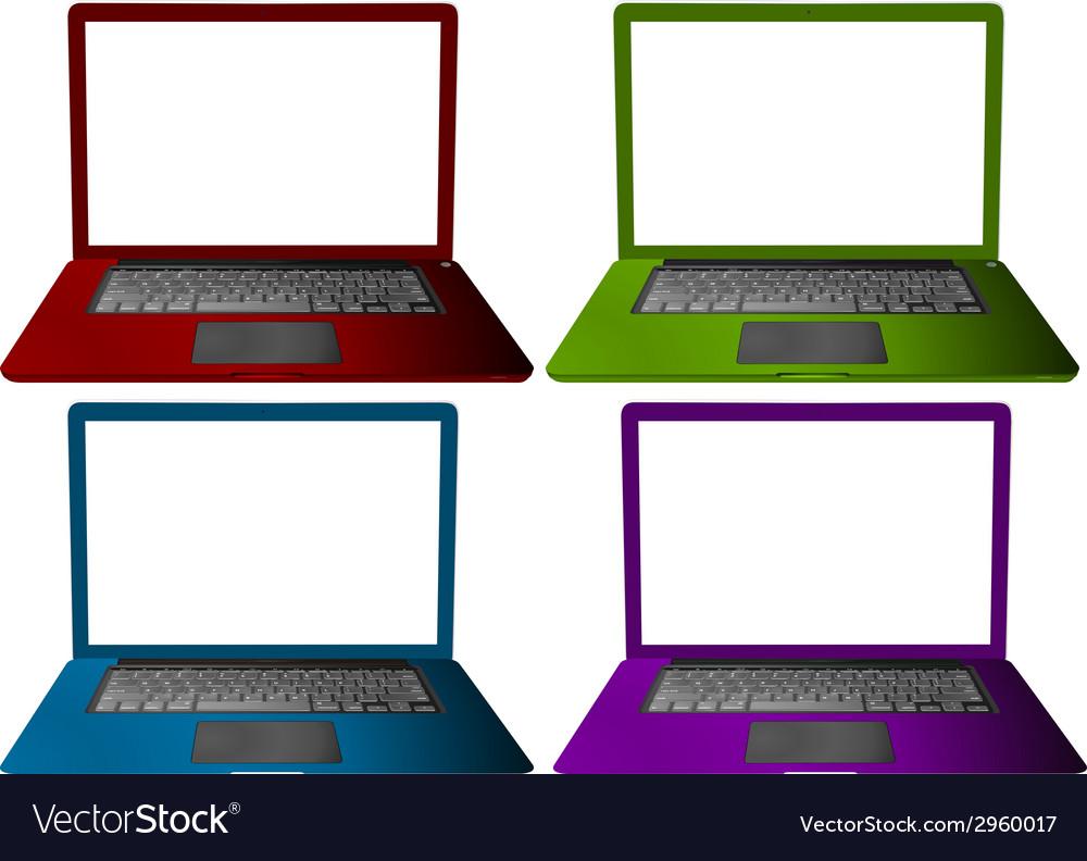 Laptop set vector image