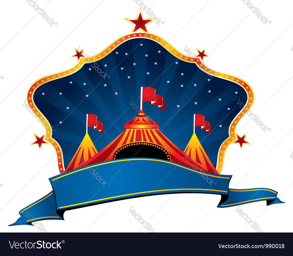Circus marquee vector image