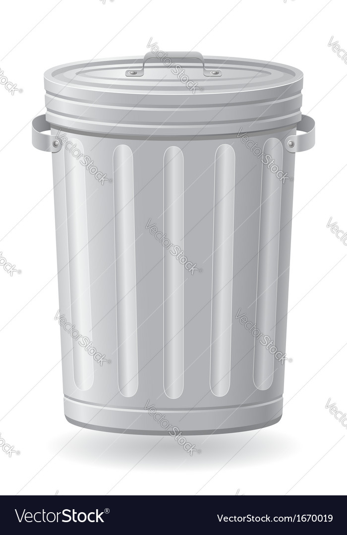 Trash can 01 vector image