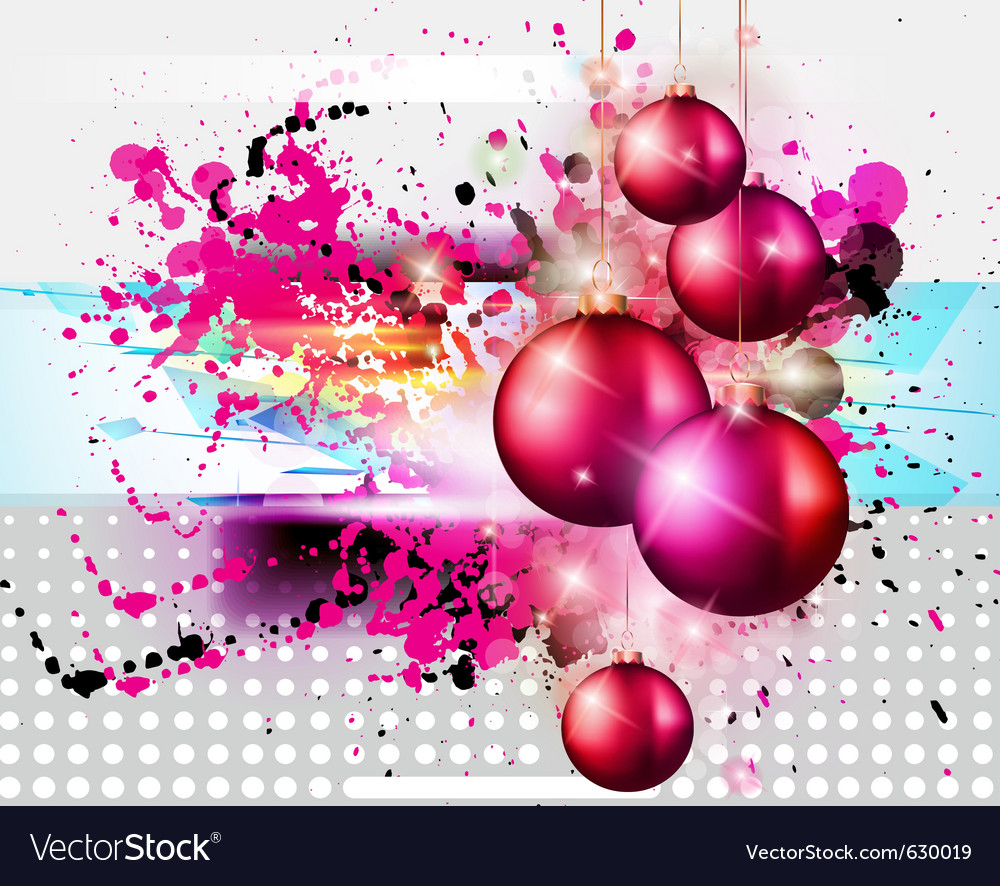 Merry christmas funk vector image