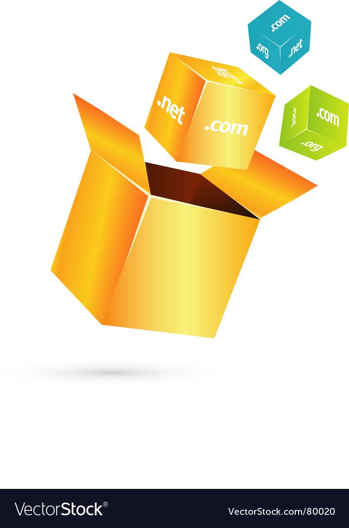 Box cube vector image