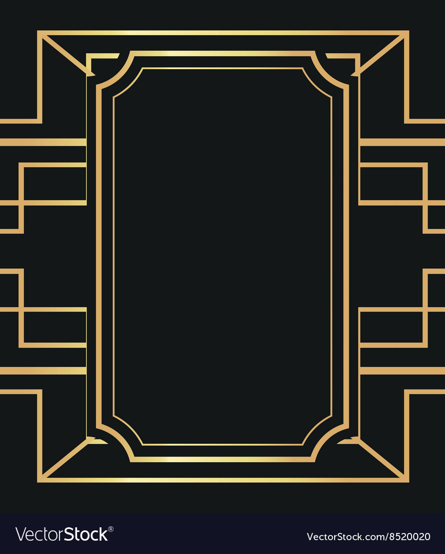 Flat about gatsby background design Royalty Free Vector