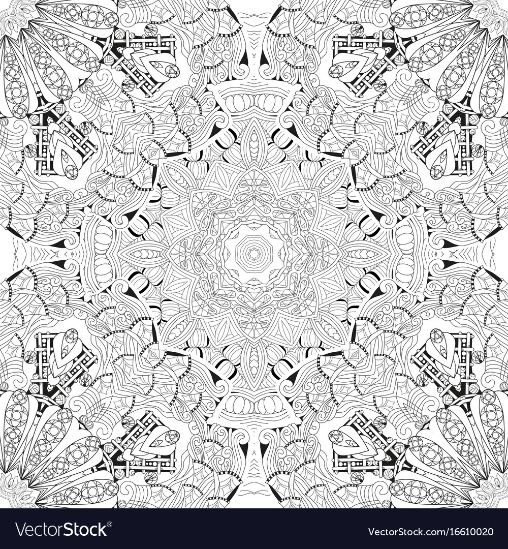 Hand drawn zentangle seamless pattern for vector image