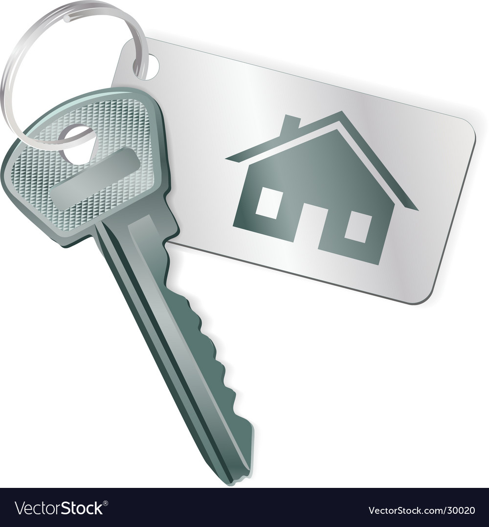 Key with a label vector image