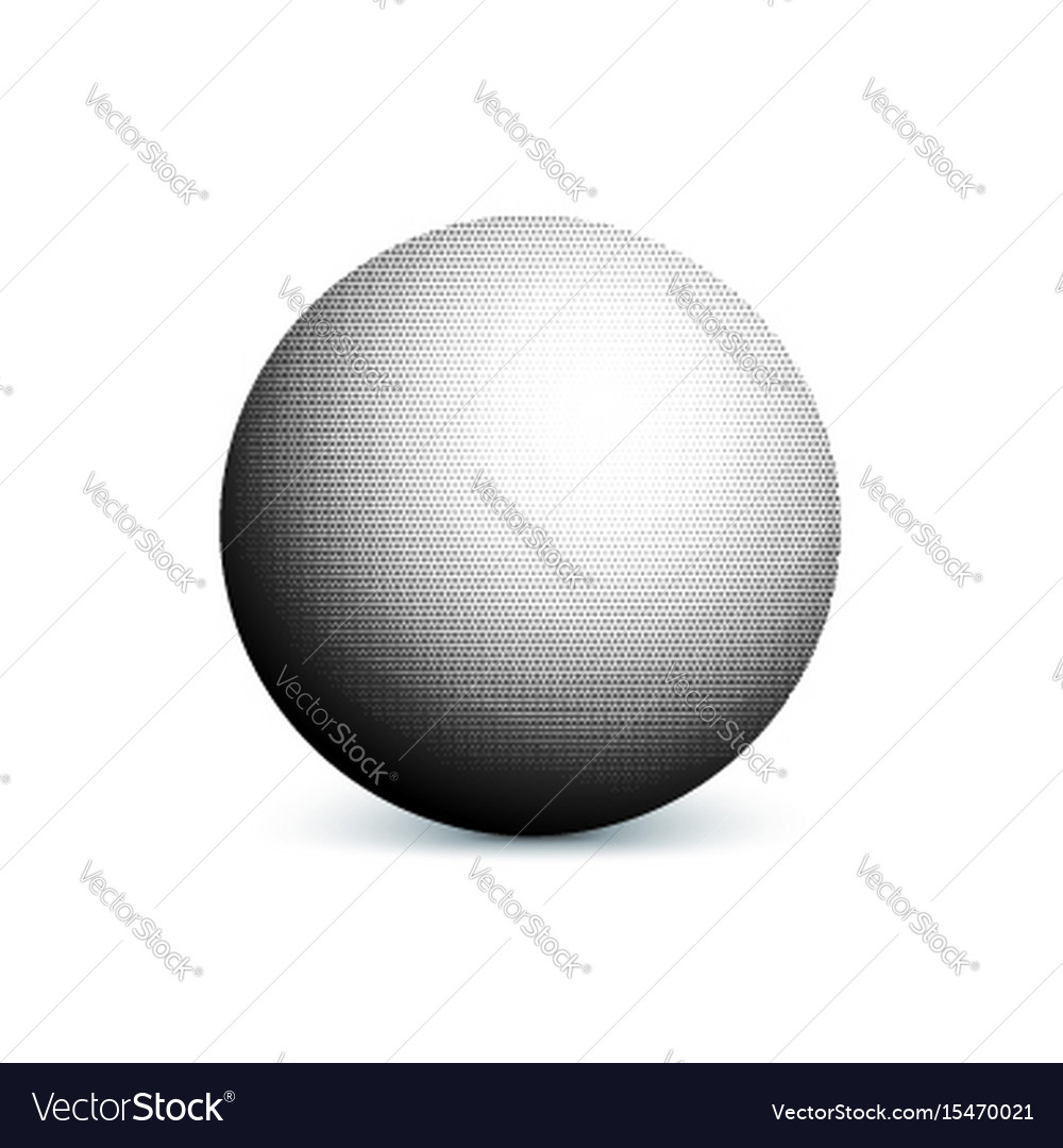 Abstract halftone minimalist ball circle with vector image