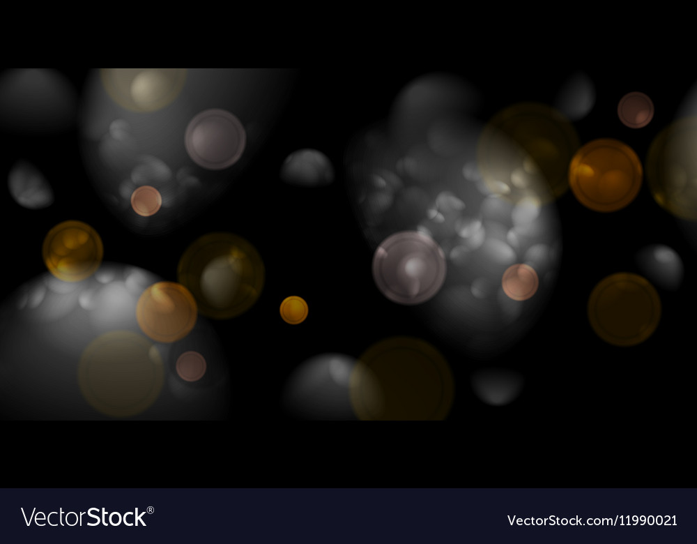 Black bokeh light glitter background vector image