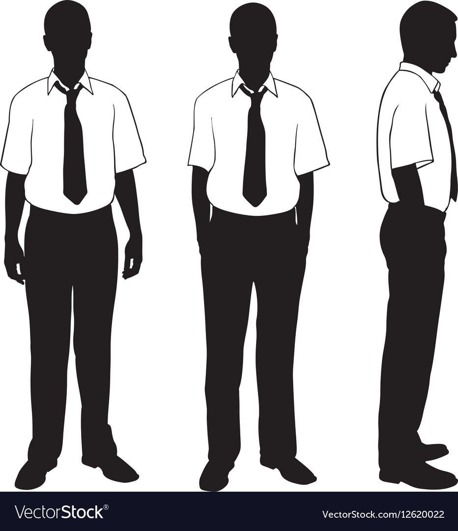 Businessmen in shirt vector image