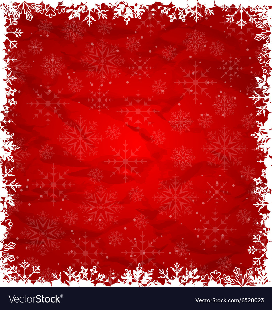 Christmas Border Made in Snowflakes vector image