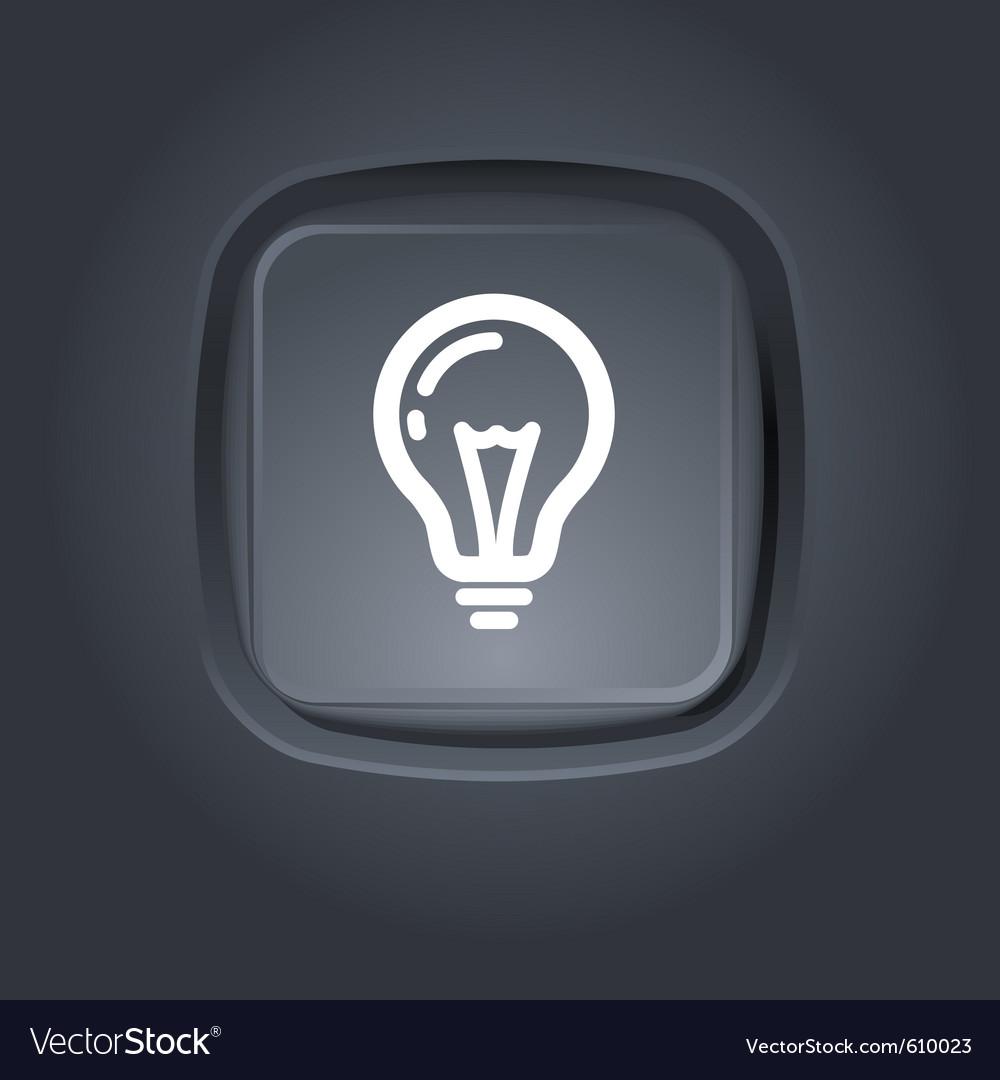 Light bulb pictogram vector image