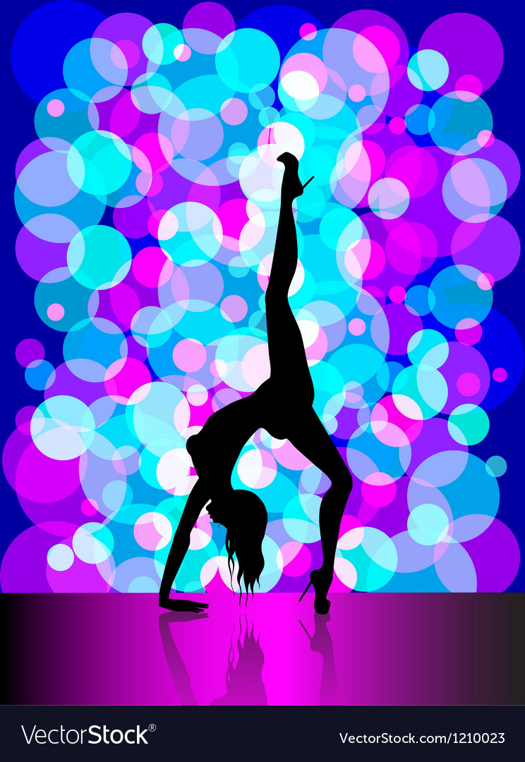 Sexy pole dancing vector image