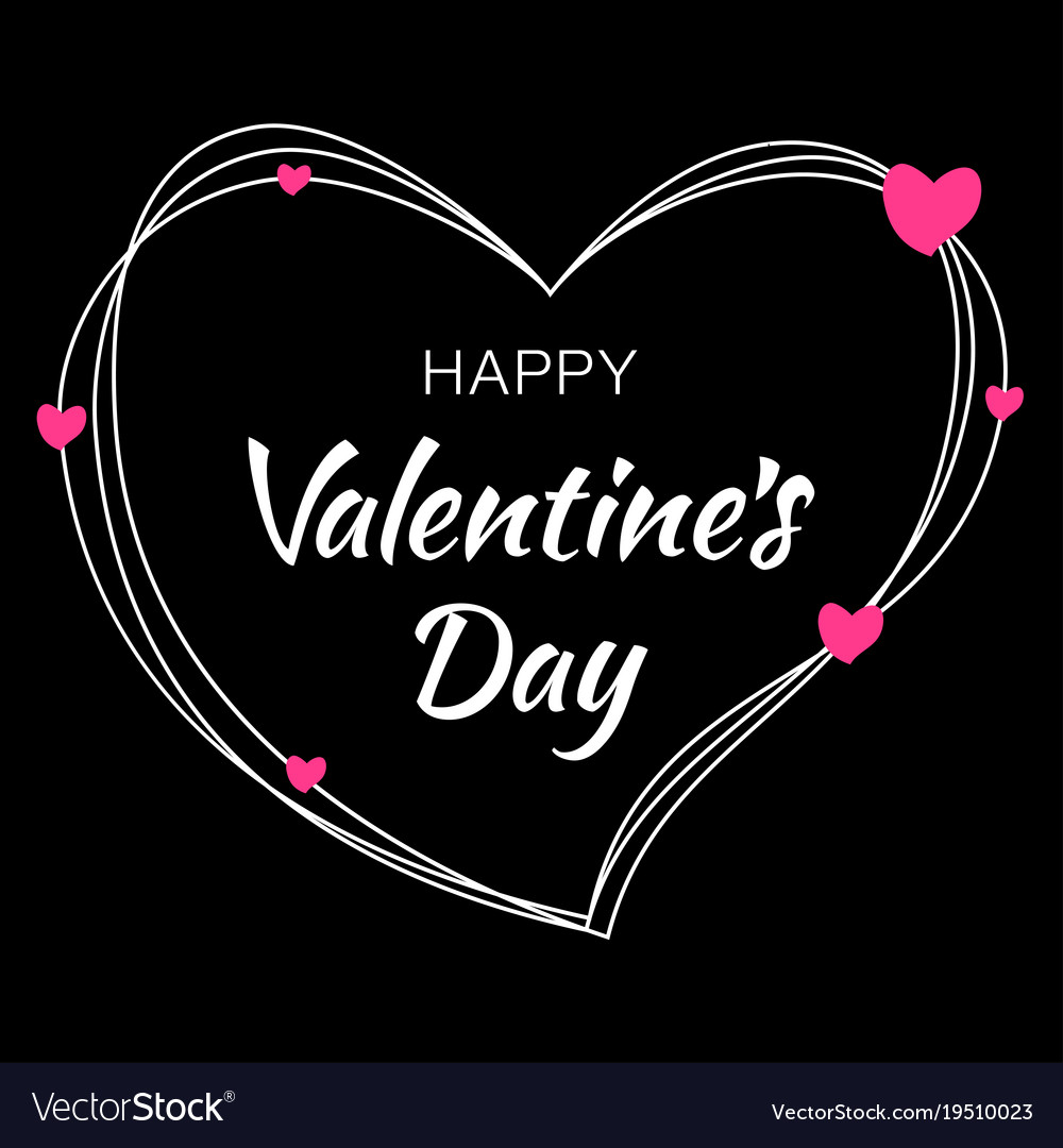 Valentines day card design royalty free vector image for Valentines day card design