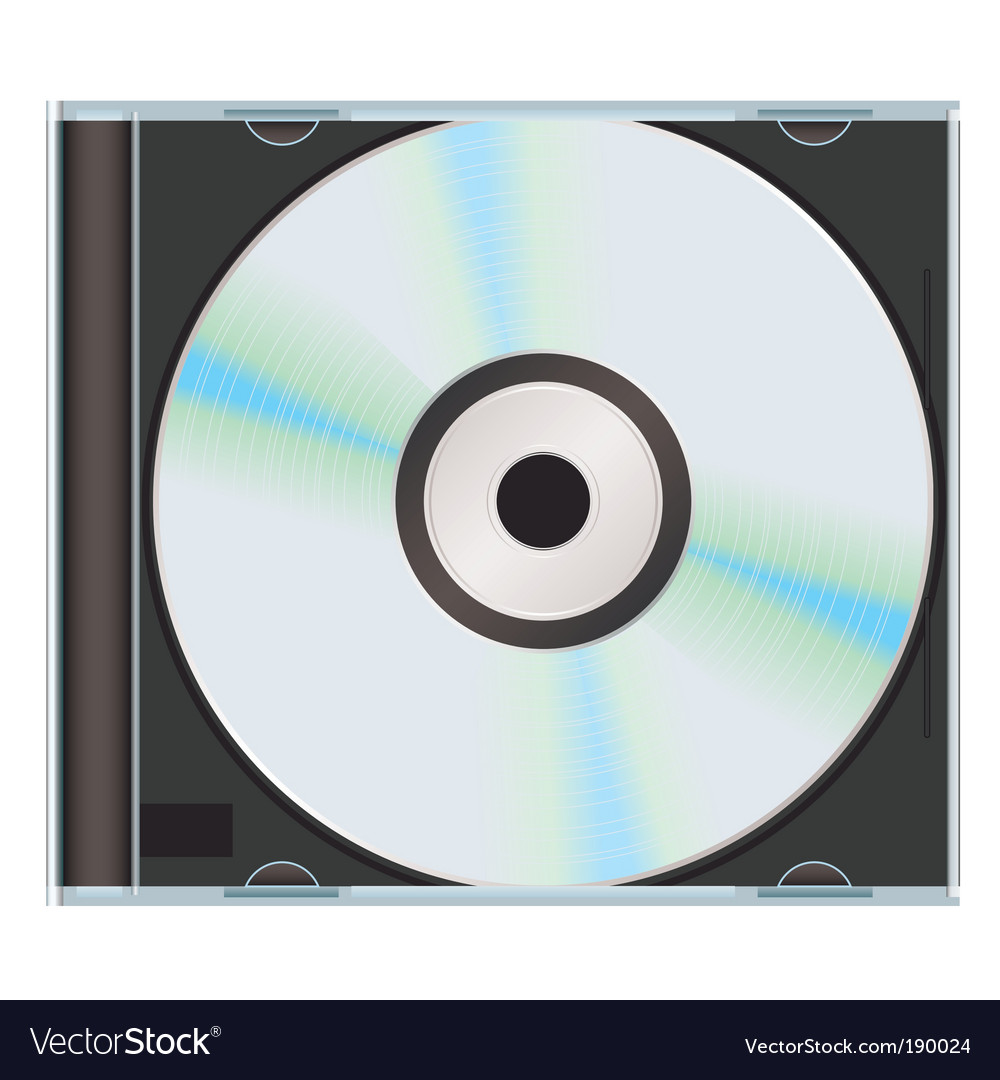Music cd case vector image