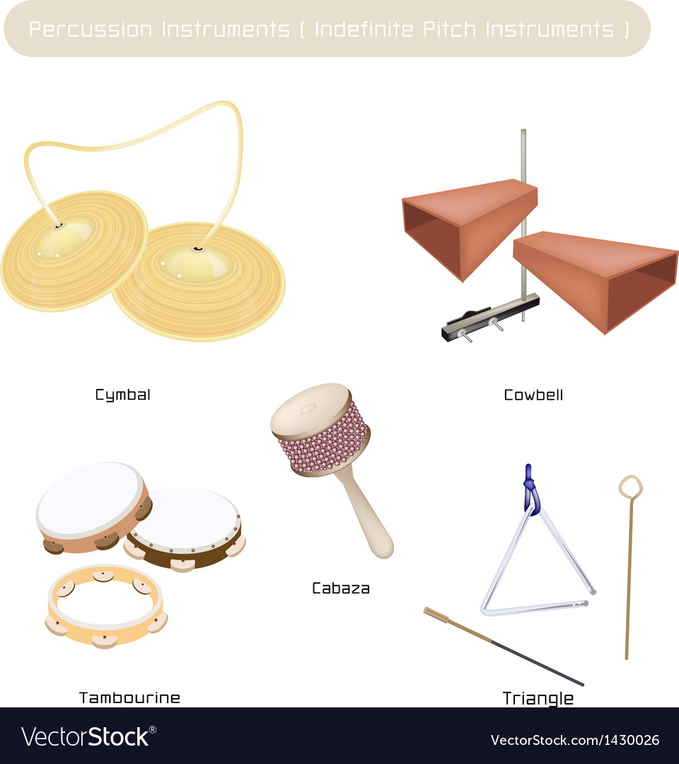 Set of Indefinite Pitch Instruments vector image
