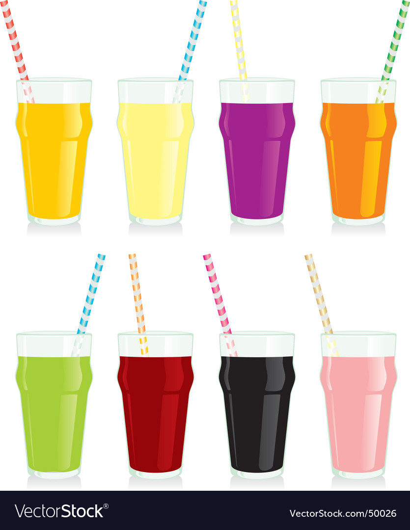 Juice glasses vector image