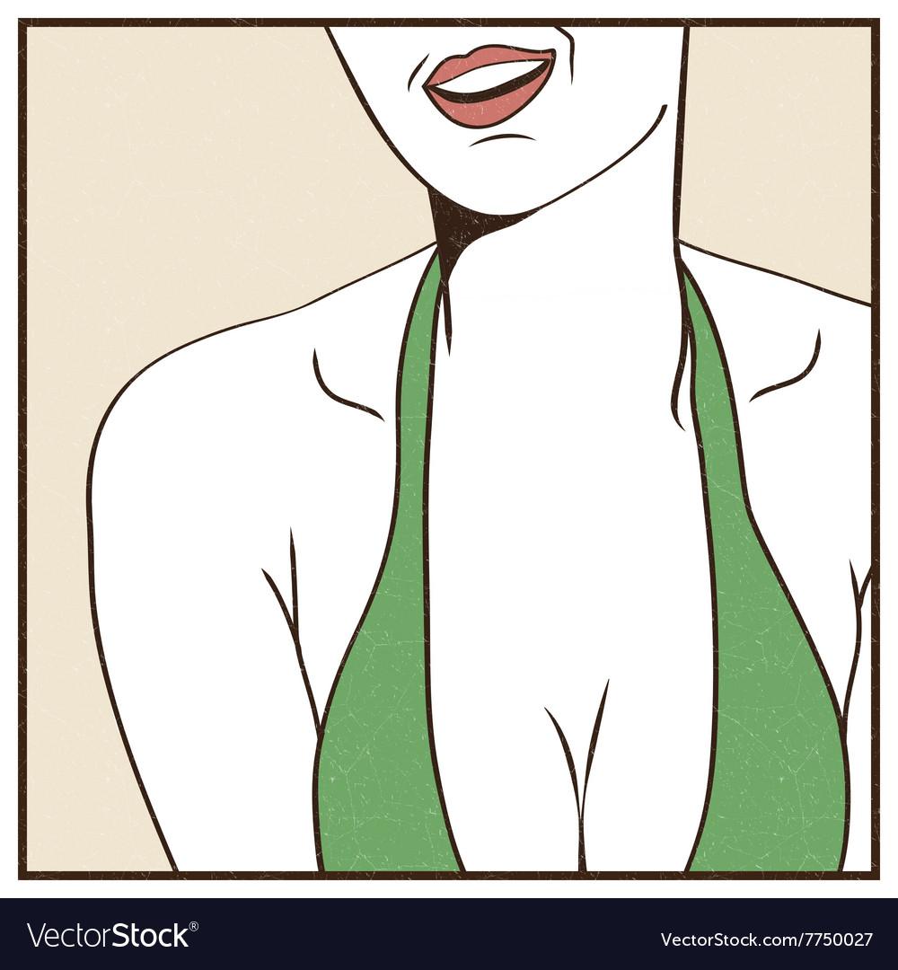 Female sexy breast vector image