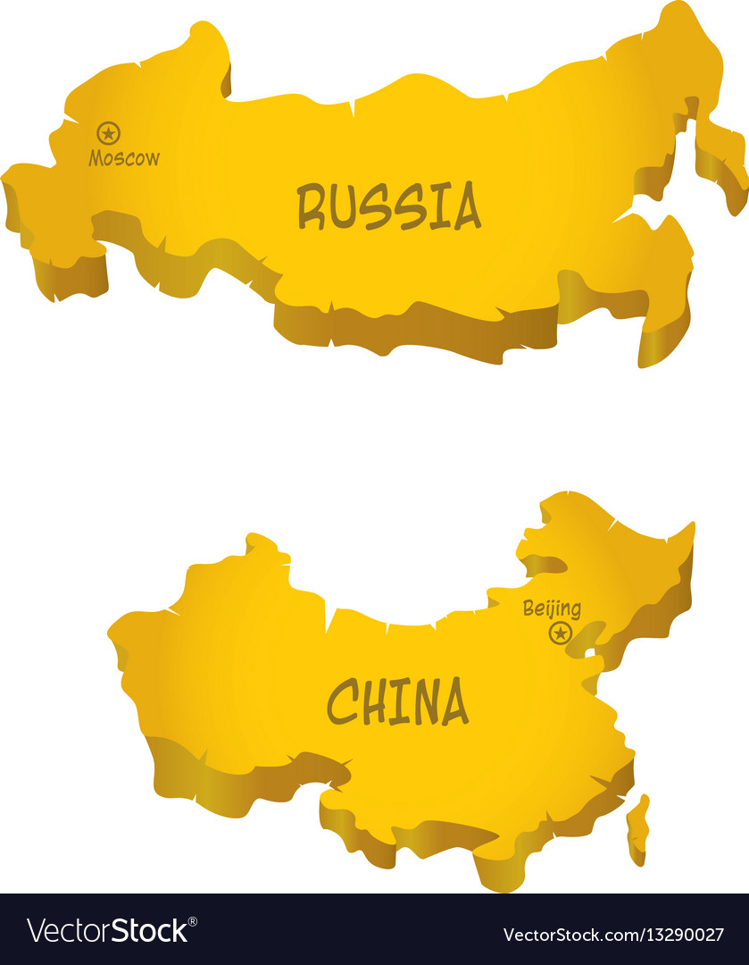 Rf and china maps vector image