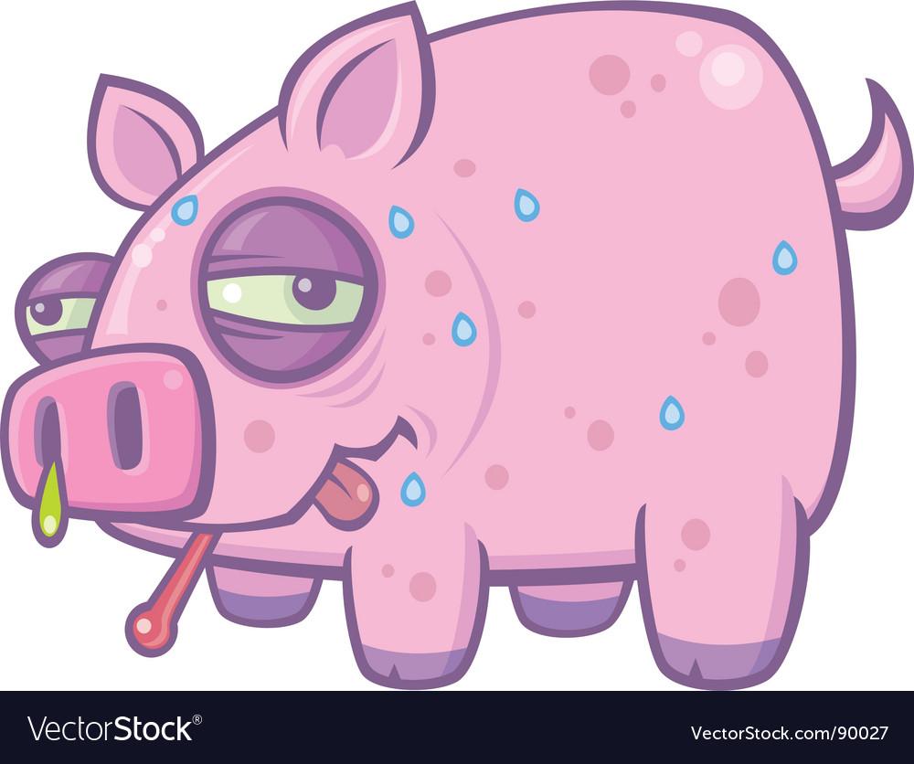 Swine flu pig vector image