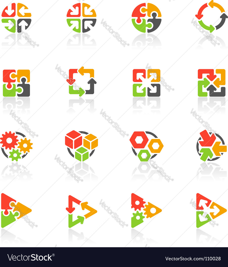 Geometrical logo templates vector image